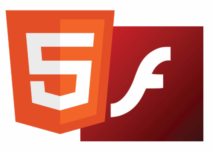 Flash player and Html 5 logos
