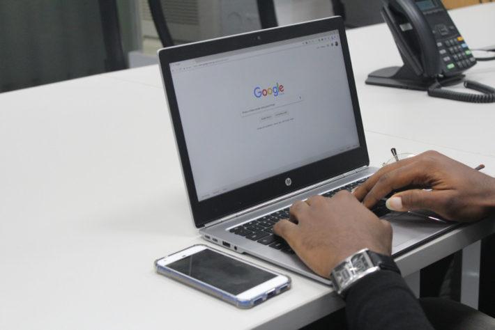 Seaching on google