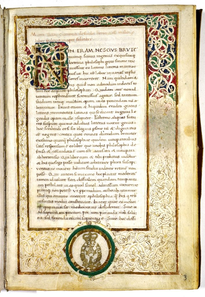 De finibus bonorum et malorum Cicero