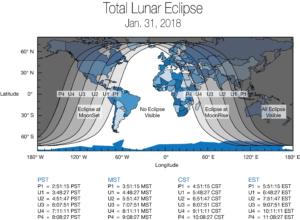 παγκόσμιος χάρτης για την σεληνιακή έκλειψη