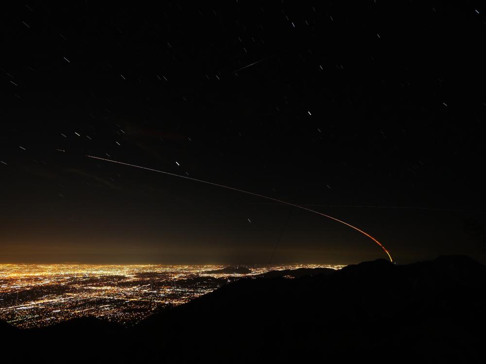 Η πορεία του Mars InSight πάνω από το Los Angeles.
