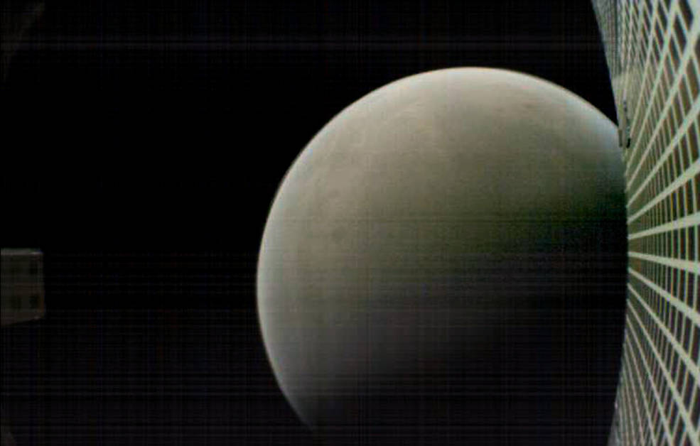 MarCO-B, one of the experimental Mars Cube One (MarCO) CubeSats, took this image of Mars from about 4,700 miles (7,600 kilometers) away during its flyby of the Red Planet on Nov. 26, 2018. MarCO-B was flying by Mars with its twin, MarCO-A, to attempt to serve as communications relays for NASA's InSight spacecraft as it landed on Mars. Credits: NASA/JPL-Caltech