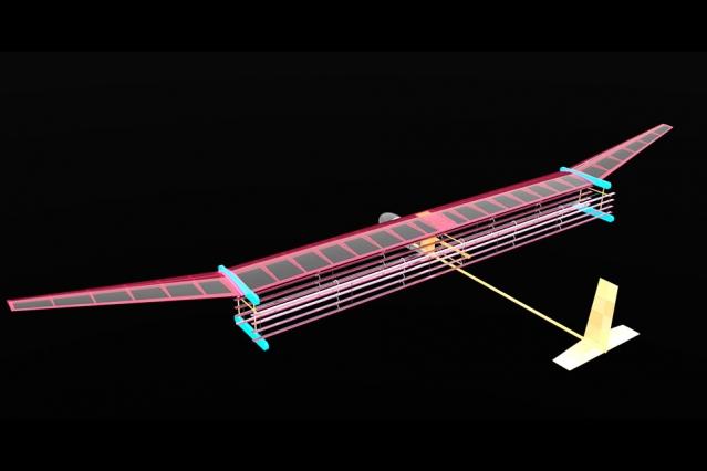 Μοντέλο του αεροσκάφους με το σύστημα ανέμου ιόντων