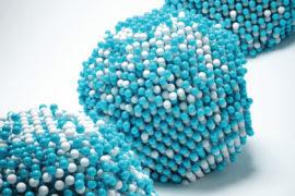 Νανοσωματίδιο κράματος σιδήρου-λευκόχρυσου