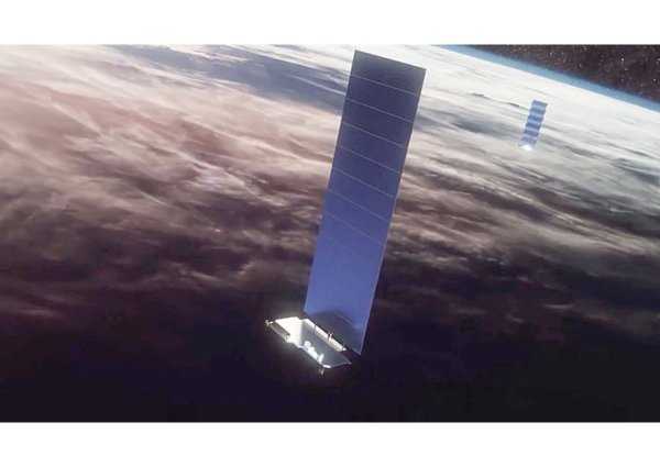 Απεικόνιση των δορυφόρων του Starlink